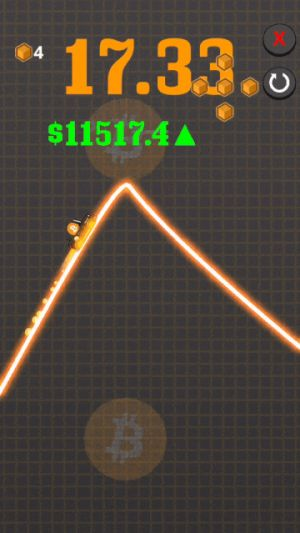 Someone made a game where you ride the rapidly changing prices of cryptocurrencies