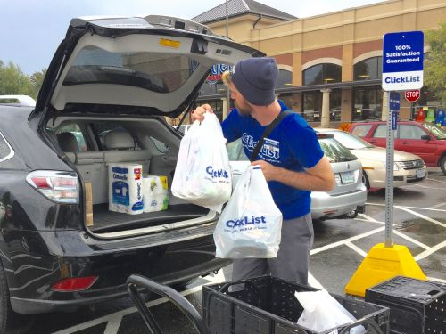 Kroger is rising on reports that it might team up with Alibaba