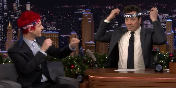 Jimmy Fallon and Ninja face off in a series of old-school video game challenges that came down to a tiebreaker