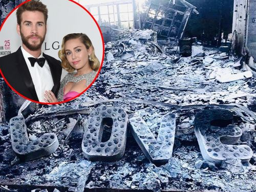 Liam Hemsworth shared a devastating photo of what remains of his and Miley Cyrus' house after the California fires
