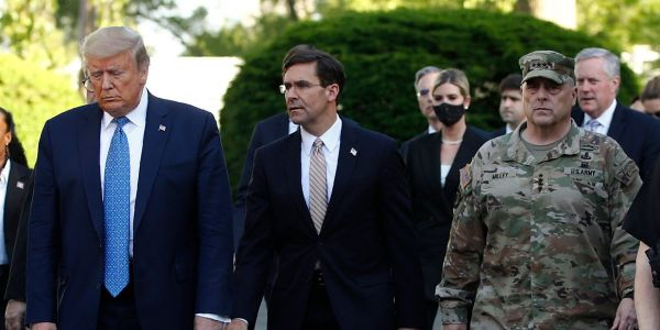 Defense Secretary Mark Esper says he 'didn't know' where he was going when he walked with Trump through a park aggressively cleared of protesters moments before