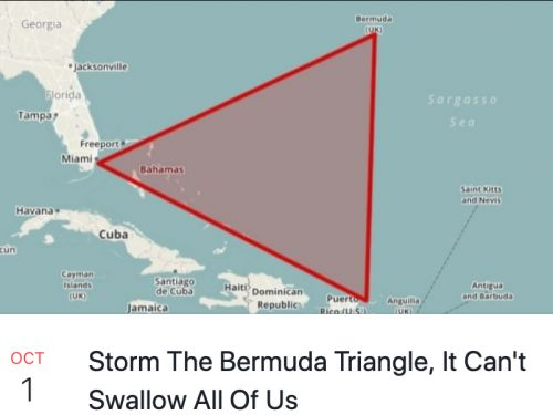 There's now an event encouraging people to 'storm' the Bermuda Triangle and more than 40,000 people have signed up