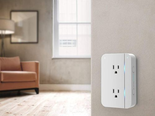This $60 smart wall outlet is an inexpensive way to control two devices at the same time - it can also be programmed to help conserve energy