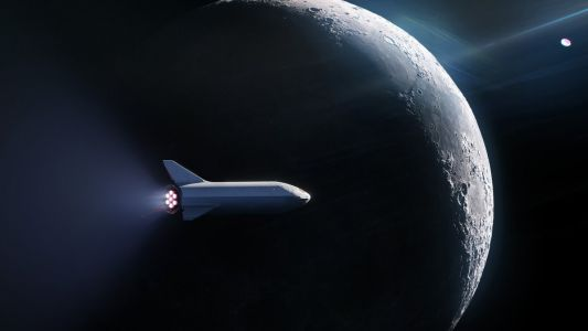 Elon Musk plans to launch a person around the moon in a giant new SpaceX rocket ship