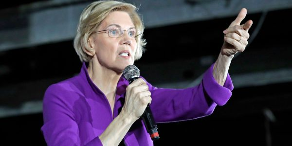 Elizabeth Warren rolls out her plan to break up the tech giants in the place where Amazon was supposed to open its New York HQ2