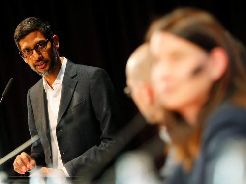 Google CEO Sundar Pichai says he was taken aback by the timing of a potentially seismic antitrust investigation