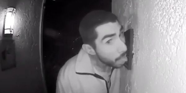 Police hunt man who was filmed licking a California couple's doorbell for 3 hours