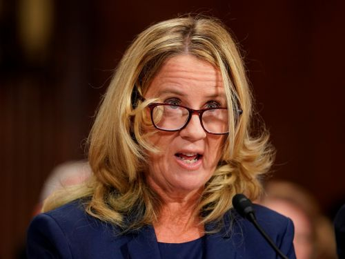 Christine Blasey Ford has had to move four times, but sure, let's protect Tucker Carlson