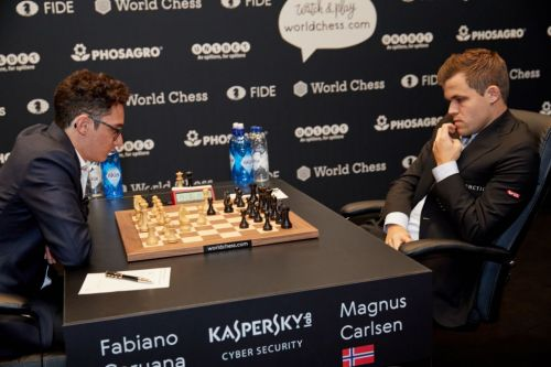 American challenger Fabiano Caruana missed his best chance to win a game against Magnus Carlsen at World Chess Championship