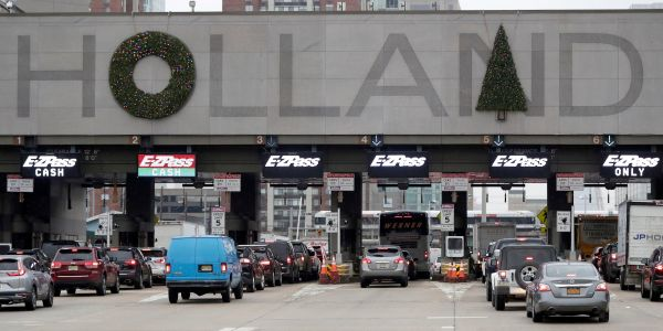 People are furious about the way the Port Authority decorated the Holland Tunnel entrance for Christmas - but now they're getting a chance to vote on it