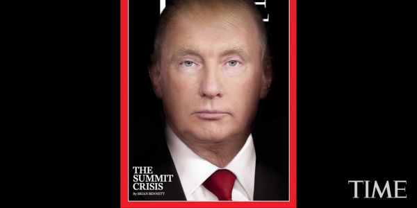 TIME Magazine's striking new cover blends Trump and Putin into one person