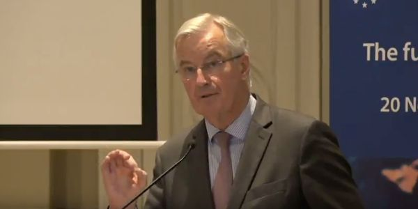Michel Barnier warns Theresa May the EU 'will not wait' for a new free trade deal with Britain