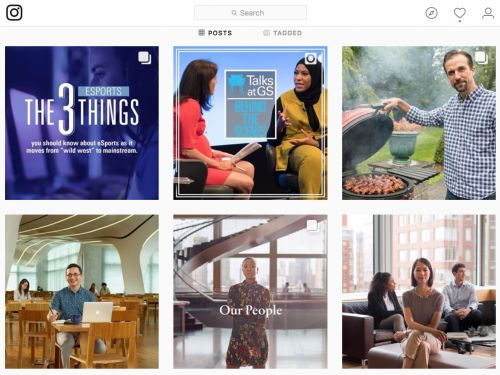 Doing it for the 'gram: Goldman Sachs becomes the latest financial firm to launch on Instagram