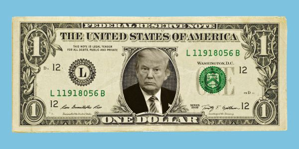 The dollar is falling after Trump slammed the Fed again
