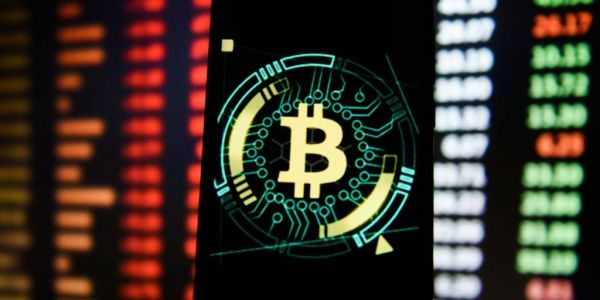 Bitcoin trading volume was 7 times that of Apple in April as the cryptocurrency saw wild volatility and a 24% sell-off