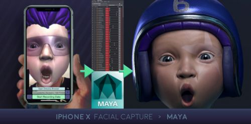 IPhone X can use Maya for quick, affordable, and easy facial capture