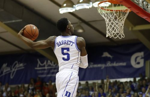 Duke's top player is being overshadowed by Zion Williamson, but he put on his own dunk clinic in their Maui Invitational win over No. 8 Auburn