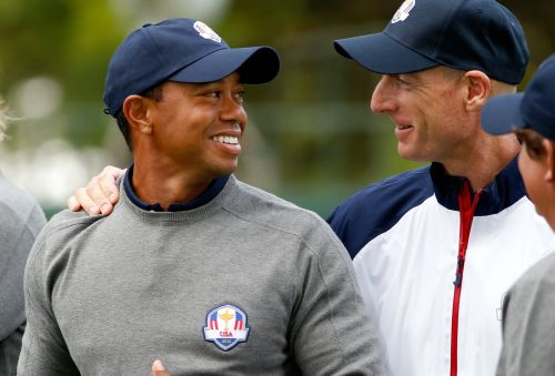 Ryder Cup captain Jim Furyk plays coy about whether or not Tiger Woods will make the team, but his answer said it all