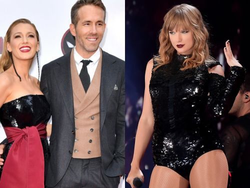 Blake Lively says the viral video of her and Ryan Reynolds' reaction to hearing their daughter on a Taylor Swift song is 'embarrassing'