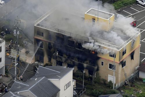 At least 1 killed, 12 others feared dead, and dozens more injured in a suspected arson attack at a Japanese animation studio