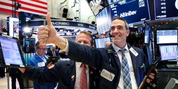 Dow jumps 238 points as Fed's Williams says strong economic growth not yet enough to impact monetary policy