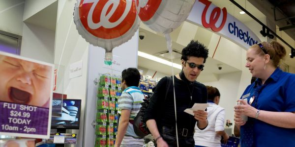 Walgreens is surging on a report that KKR formally approached the company to talk about taking it private