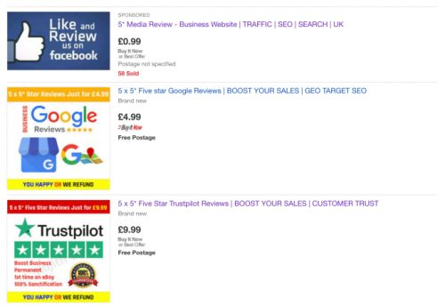 EBay and Facebook told to tackle trade in fake reviews
