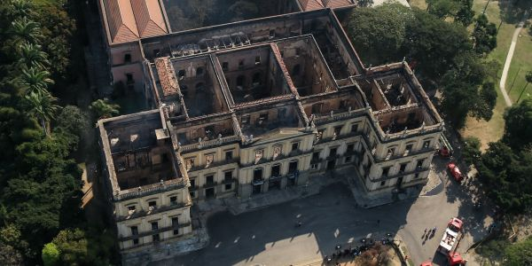 Video shows aftermath of Brazil museum fire, with almost nothing left but an ancient meteorite