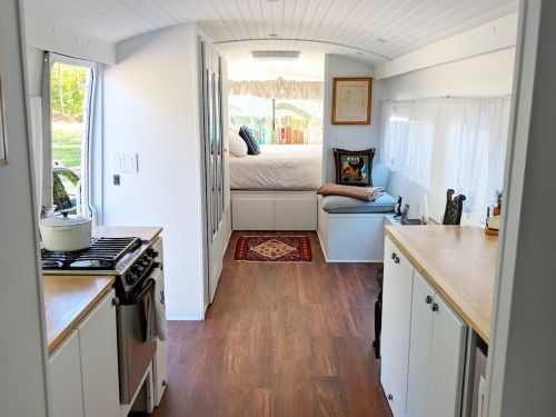 This woman spent $125,000 turning a vintage Greyhound bus into an incredible tiny home - and it's for sale