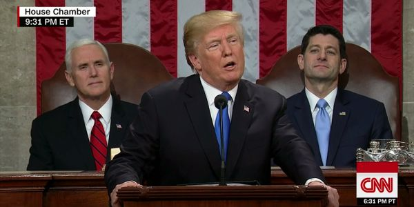 Trump touts a 'new American moment' in first State of the Union address