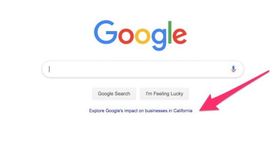 Google is using its famously sparse homepage to brag about how much it helps the economy, and it's a telling sign of the tech backlash