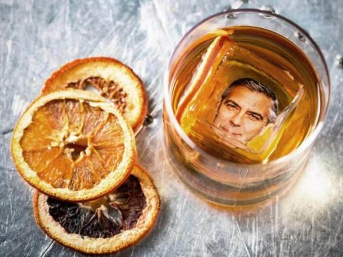 You can get a cocktail with George Clooney's face in the ice cube it but it'll cost you $25