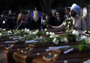 The Latest: Interfaith ceremony for drowned Nigerian women