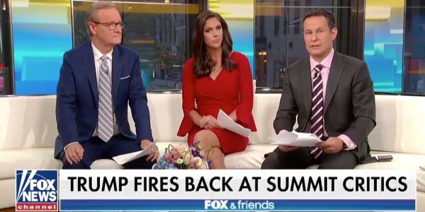 The hosts of 'Fox and Friends' blasted Trump's performance at the Putin press conference, telling him to correct the record