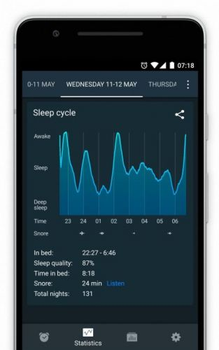 Sleep Cycle adds 'snore detection' to its sleep-tracking Android app