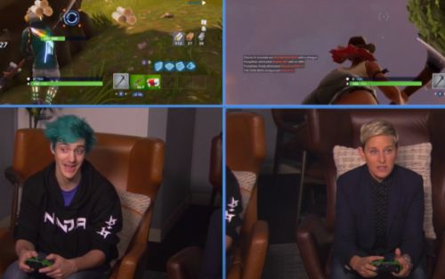 Ninja will play Fortnite with a woman if you pay him or if you're Ellen