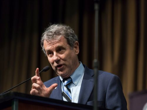 Senator Sherrod Brown came out guns blazing against Facebook, comparing the social network to a dangerous 'toddler' that keeps committing arson