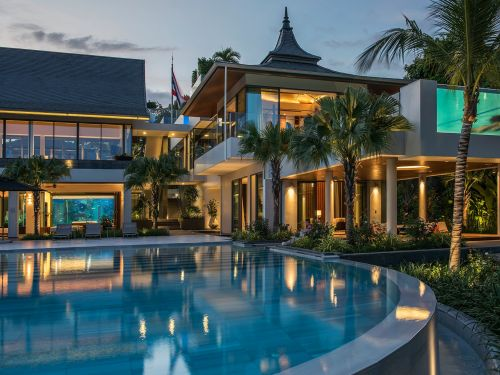 Millions of tourists flock to Bangkok every year, and now a resort 2 hours outside the city has been named the world's 'best private villa' for $150,000 a week