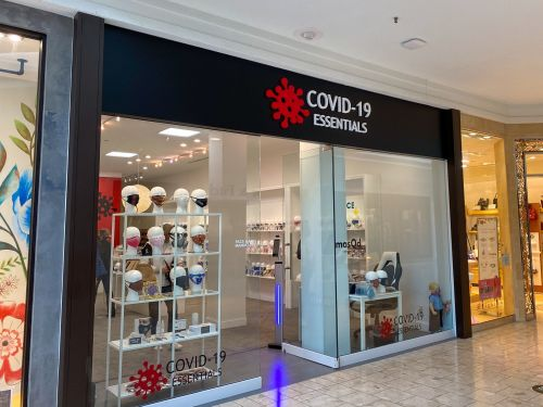 I visited a COVID-19-themed boutique selling high-priced 'essentials' to wealthy shoppers in high-end malls alongside Hermes and Louis Vuitton stores - see inside