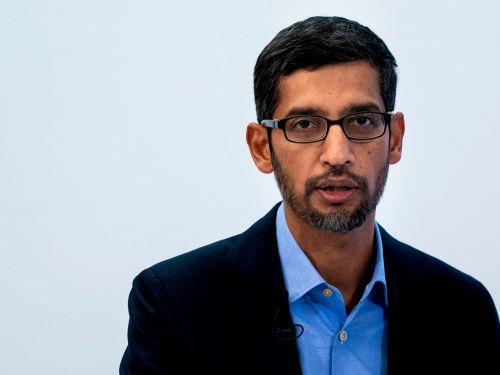 Google CEO Sundar Pichai tried to calm investors concerned about antitrust scrutiny - and whether losing a key Apple search deal would be a 'code red'