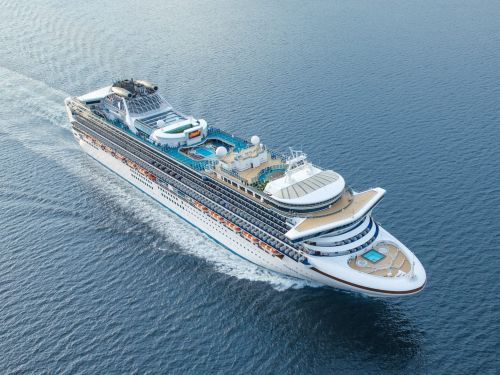 An American woman fell to her death on a cruise ship after reportedly being choked by a man on the upper deck
