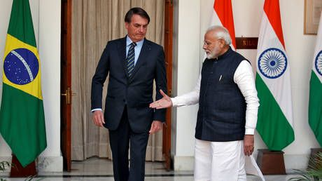 India and Brazil sign over a DOZEN trade treaties as Bolsonaro makes first visit to New Delhi