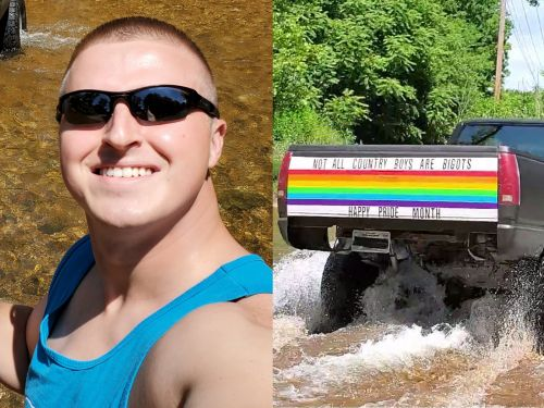 An 'average straight white guy' from Oklahoma says he decorated his truck for Pride Month to prove 'not all country boys are bigots'
