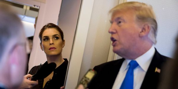 Hope Hicks reportedly stopped returning some of Trump's calls after she left the White House and he's been asking, 'What happened to Hope?'