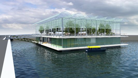 The world's first floating farm will house 40 cows and be hurricane-resistant