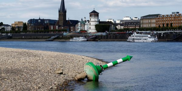 Europe's mightiest river is drying up, causing a recession in Germany. Yes, really