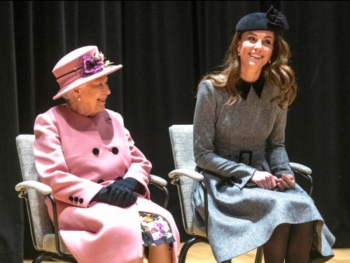 Kate Middleton and the Queen were pictured sharing a blanket during their first event without other royal family members