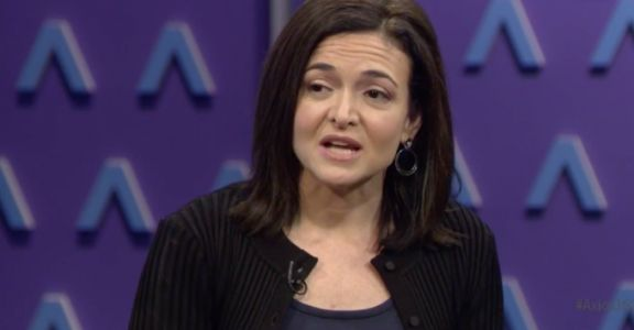 Sandberg says Facebook allows fake news ads from legit accounts