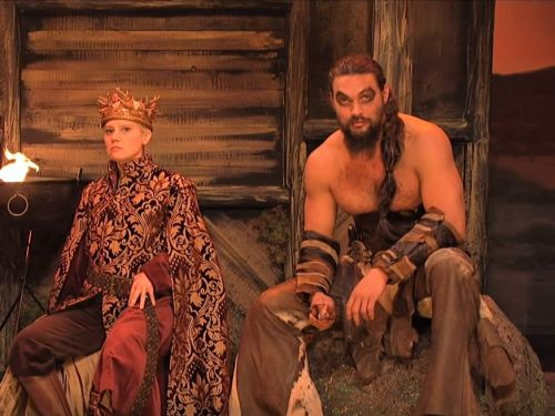 Jason Momoa brought back his 'Game of Thrones' role for a hilarious skit on 'Saturday Night Live'