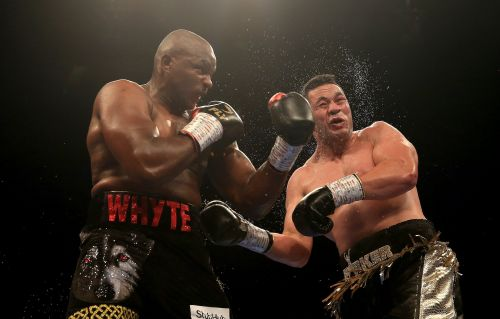 Dillian Whyte was punching his coach's hands so hard in training it left him needing treatment ahead of the fight this Saturday